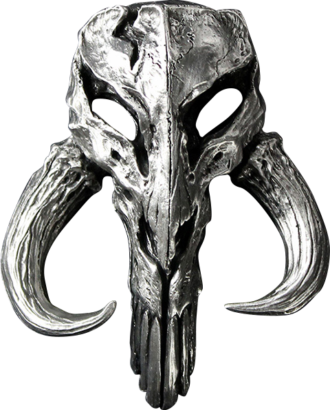 Regal Robot Mandalorian Skull Pewter Mini Sculpture Statue