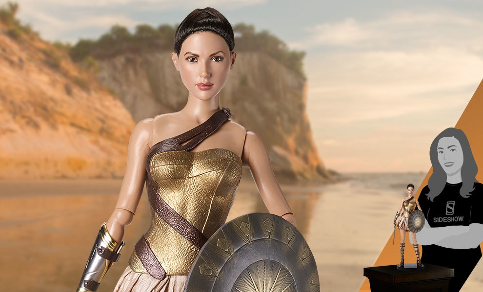 Gallery Feature Image of Wonder Woman Training Armor Deluxe Doll - Click to open image gallery