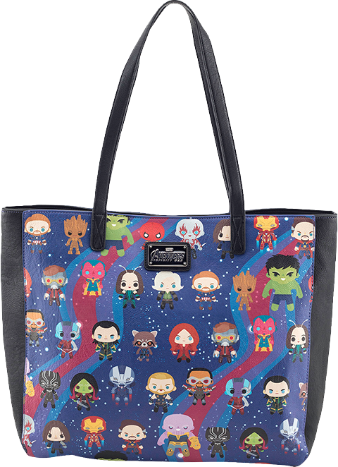 Loungefly Avengers Infinity War Kawaii Print Tote Bag Apparel