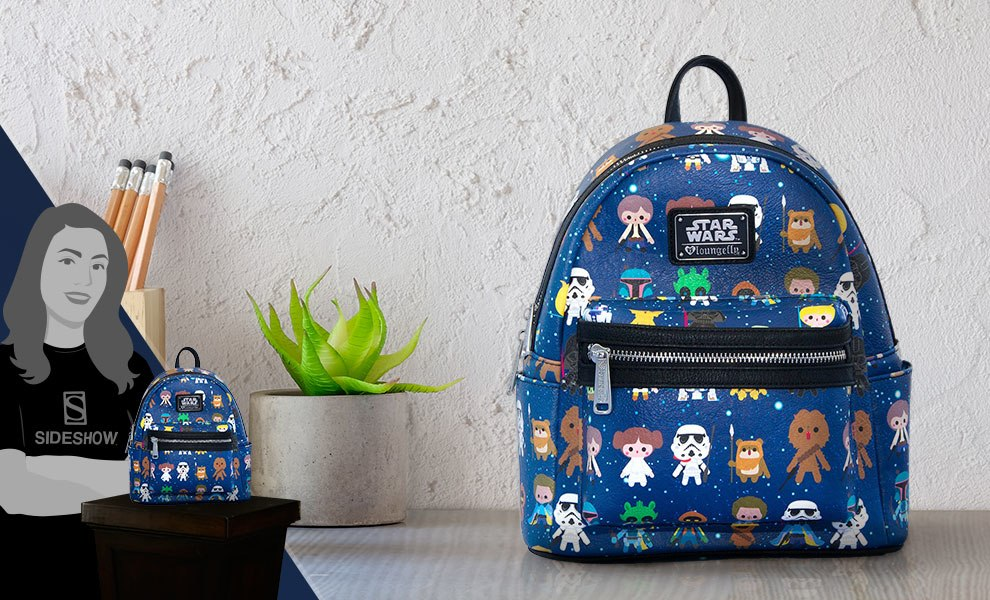 Gallery Feature Image of Star Wars Baby Character Print Mini Backpack Apparel - Click to open image gallery