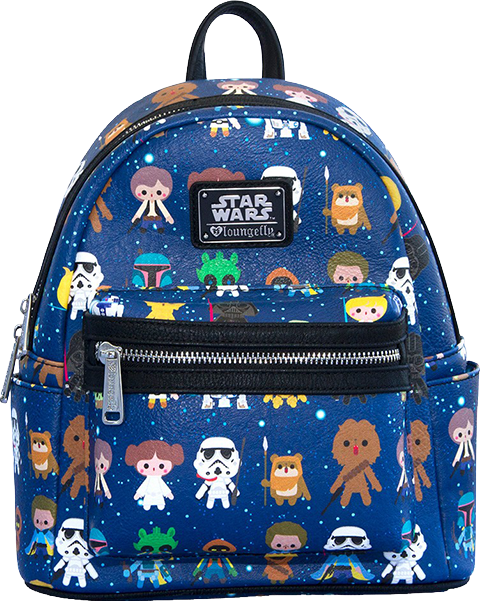 Loungefly Star Wars Baby Character Print Mini Backpack Apparel