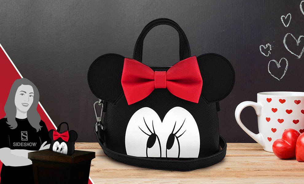 Gallery Feature Image of Minnie Eyes Micro Dome Crossbody Bag Apparel - Click to open image gallery