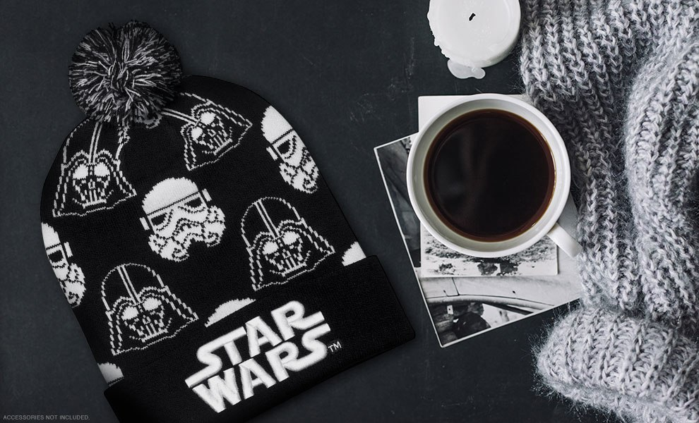 Gallery Feature Image of Darth Vader Stormtrooper Black and White Beanie Apparel - Click to open image gallery