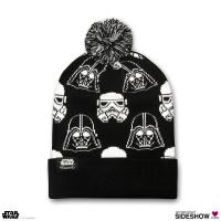 Gallery Image of Darth Vader Stormtrooper Black and White Beanie Apparel
