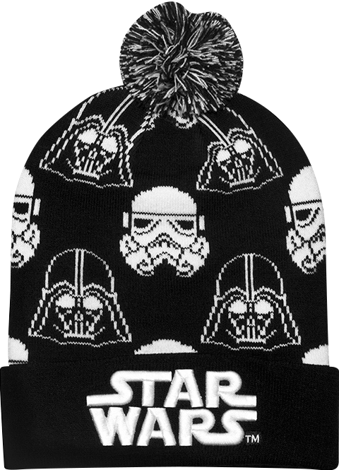 Loungefly Darth Vader Stormtrooper Black and White Beanie Apparel