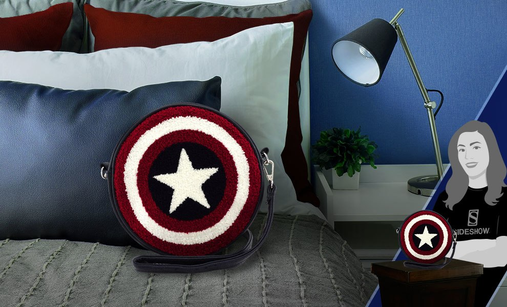 Gallery Feature Image of Captain America Shield Crossbody Bag Apparel - Click to open image gallery