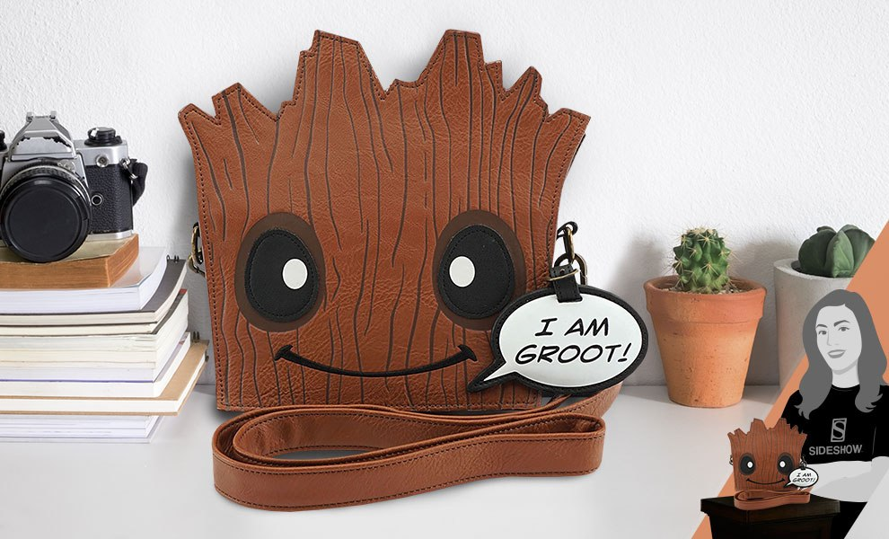 Gallery Feature Image of Groot Die Cut Crossbody Bag Apparel - Click to open image gallery