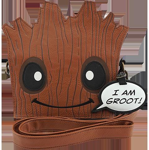 Loungefly Groot Die Cut Crossbody Bag Apparel
