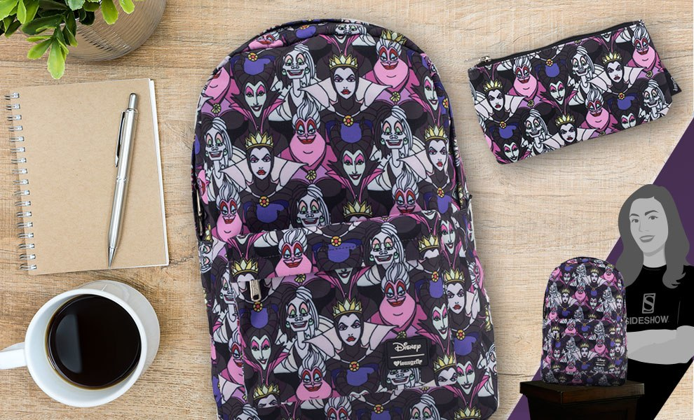 Gallery Feature Image of Villains All Over Print Backpack Apparel - Click to open image gallery