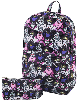 Villains All Over Print Backpack Apparel