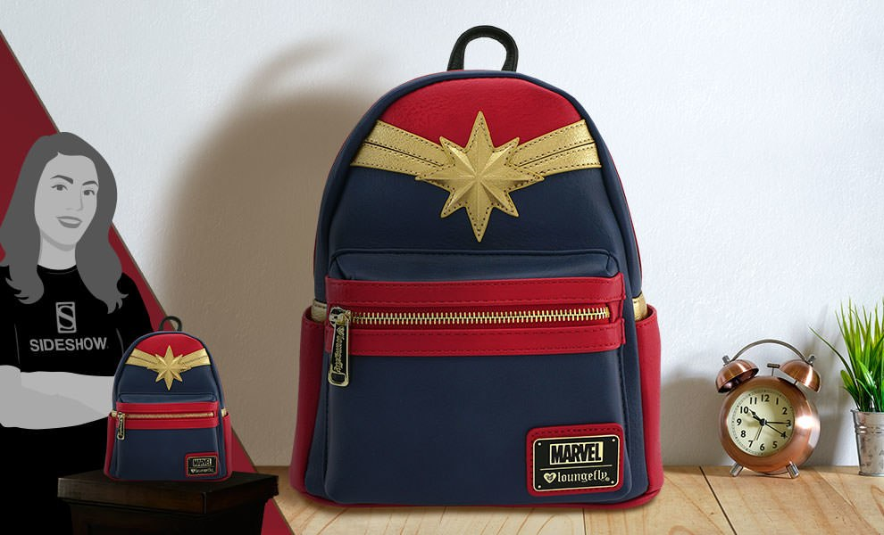 Gallery Feature Image of Captain Marvel Cosplay Mini Backpack Apparel - Click to open image gallery