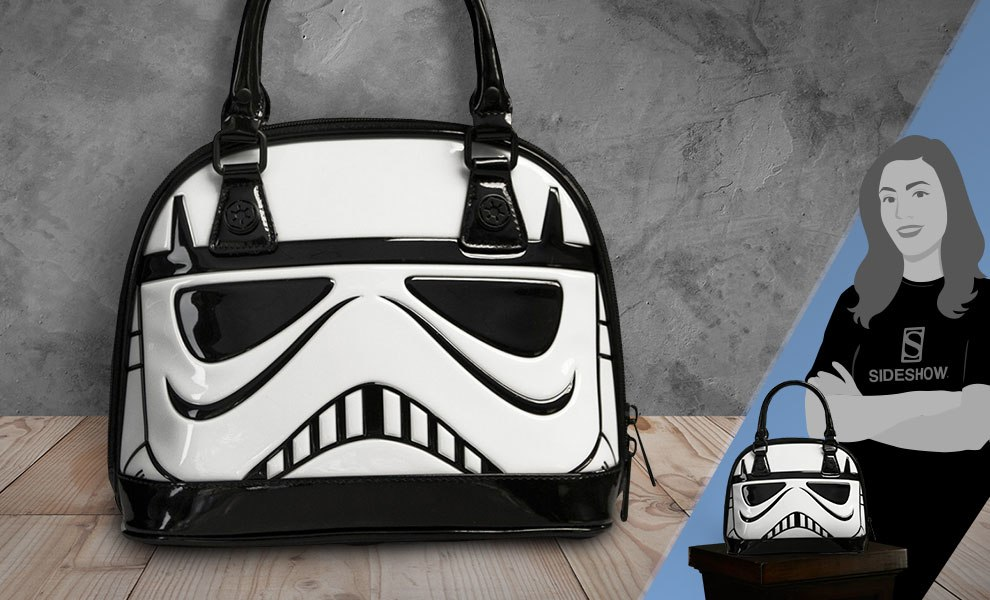 Gallery Feature Image of Stormtrooper Patent Mini Dome Bag Apparel - Click to open image gallery