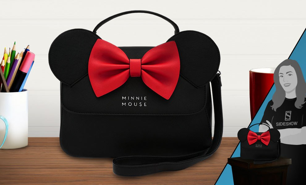 Gallery Feature Image of Minnie Ears and Bow Crossbody Bag Apparel - Click to open image gallery