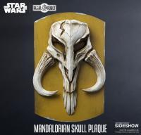 Gallery Image of Mandalorian Skull Plaque Statue