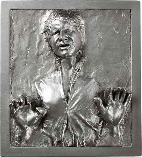 Regal Robot Han Solo in Carbonite Mini Plaque Statue