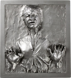 Han Solo in Carbonite Mini Plaque Statue