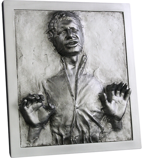 Regal Robot Han Solo in Carbonite Plaque Statue