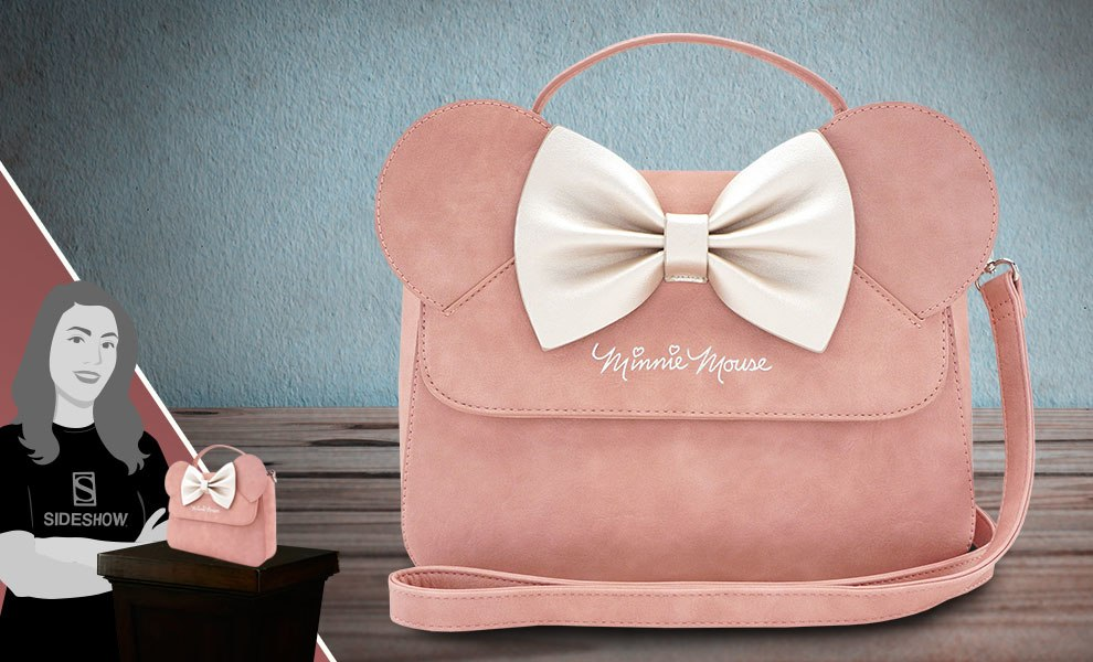 Gallery Feature Image of Minnie Ears and Bow Pink Crossbody Bag Apparel - Click to open image gallery