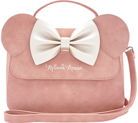 Loungefly Minnie Ears and Bow Pink Crossbody Bag Apparel