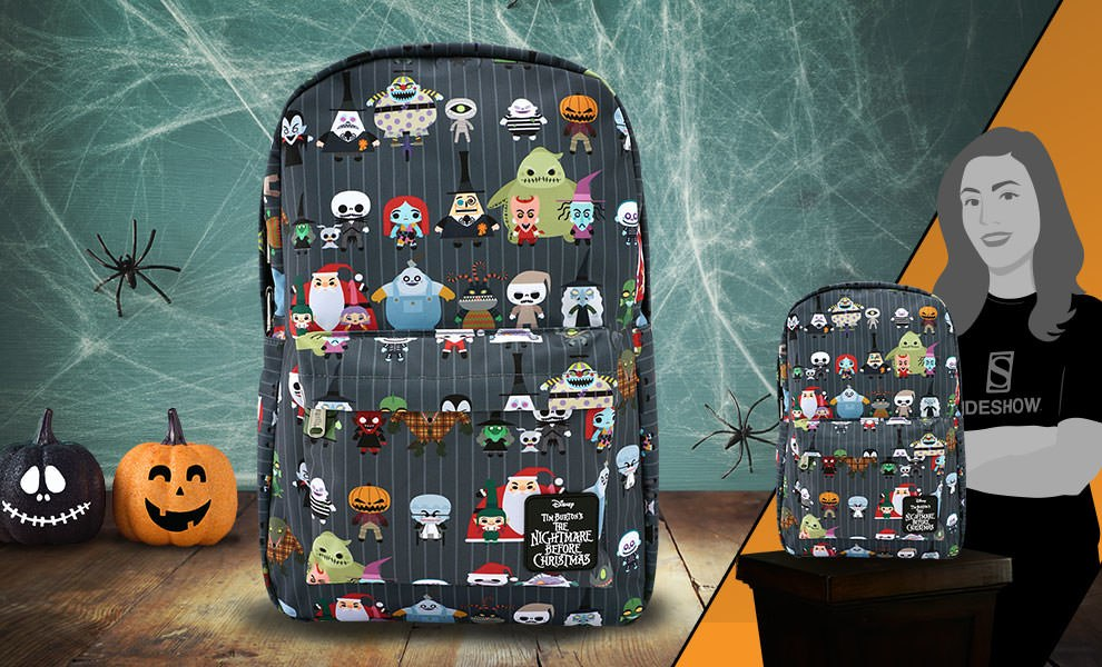 Gallery Feature Image of The Nightmare Before Christmas Chibi Backpack Apparel - Click to open image gallery