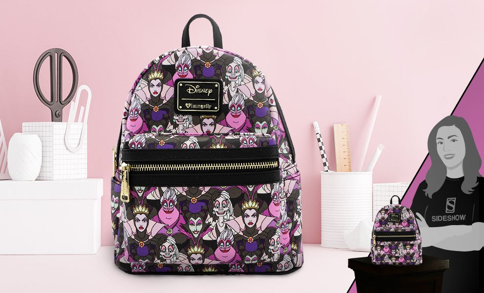 Gallery Feature Image of Disney Villains Print Mini Backpack Apparel - Click to open image gallery