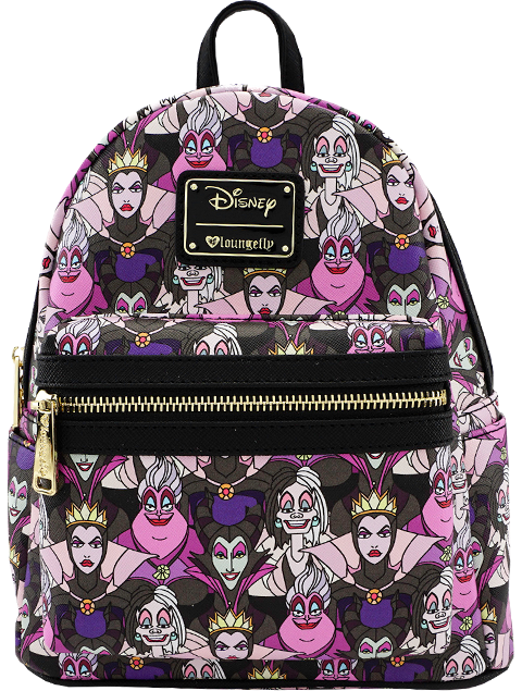 Loungefly Disney Villains Print Mini Backpack Apparel