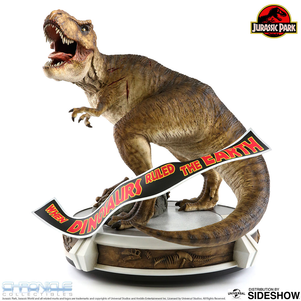 Jurassic Park Rotunda Rex Statue by Chronicle Collectibles