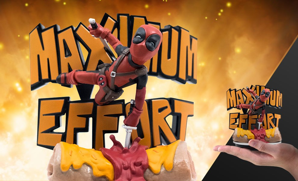 Gallery Feature Image of Deadpool Maximum Effort Q-Fig Max Diorama - Click to open image gallery