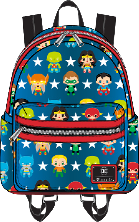 Loungefly DC Characters Chibi Mini Backpack Apparel