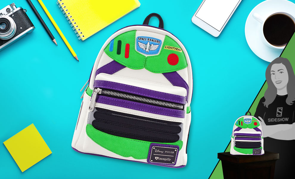 Gallery Feature Image of Buzz Lightyear Character Mini Backpack Apparel - Click to open image gallery