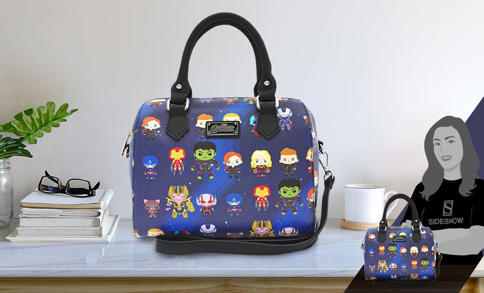 Gallery Feature Image of Endgame Chibi Print Duffle Bag Apparel - Click to open image gallery
