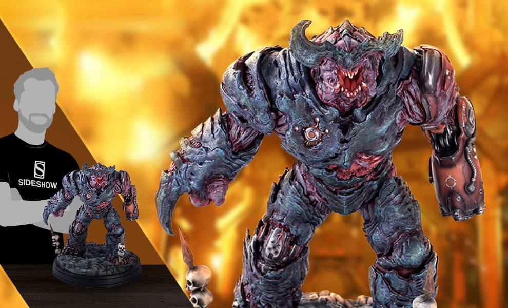 Gallery Feature Image of Cyberdemon Statue Statue - Click to open image gallery