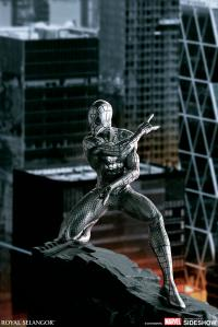 Gallery Image of Spider-Man Webslinger Figurine Pewter Collectible