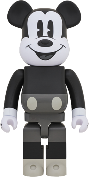 Bearbrick Mickey Mouse Black and White Version 1000 Figure