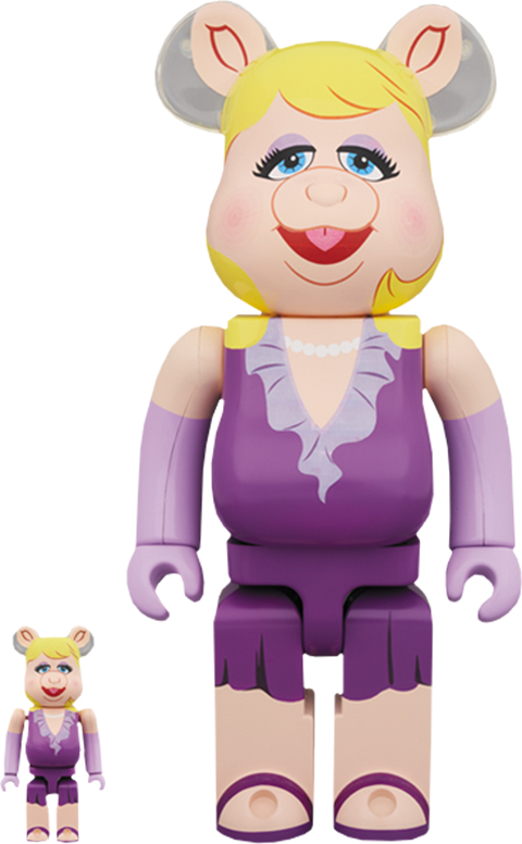 Medicom Toy Bearbrick Miss Piggy 100 and 400 Collectible Set