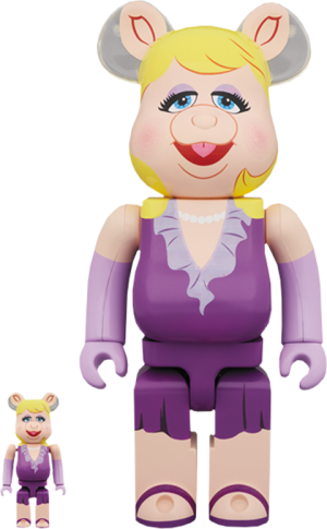 Bearbrick Miss Piggy 100 and 400 Collectible Set