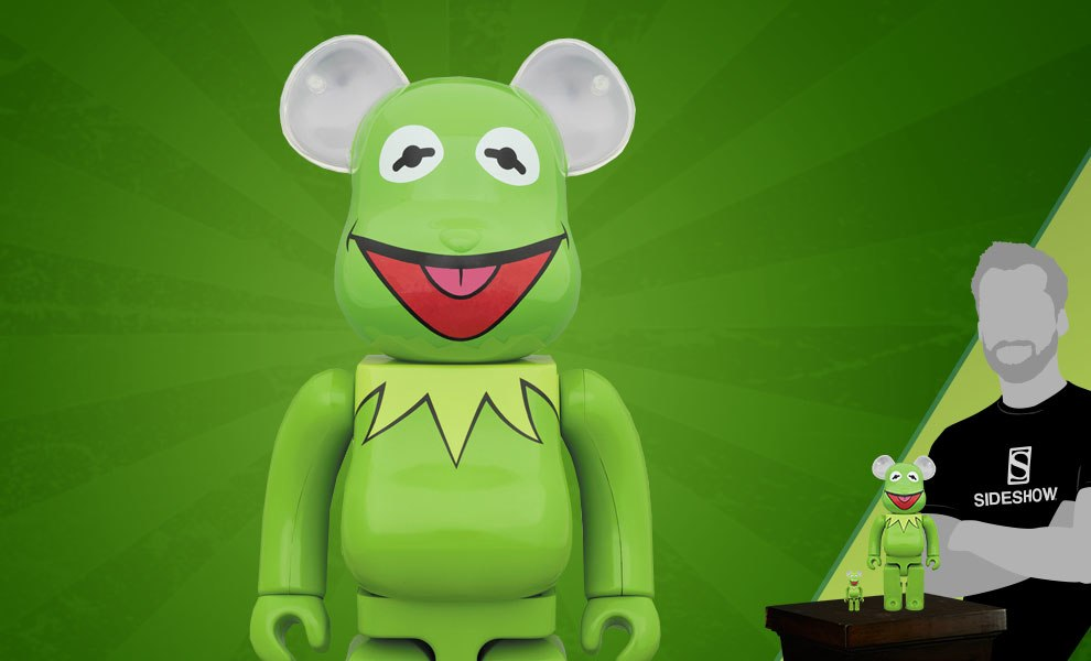 Gallery Feature Image of Bearbrick Kermit the Frog 100 and 400 Collectible Set - Click to open image gallery