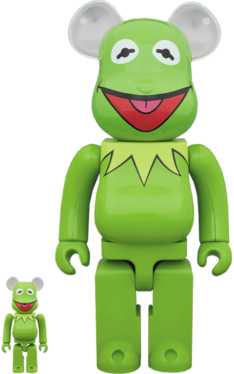 Medicom Toy Bearbrick Kermit the Frog 100 and 400 Collectible Set