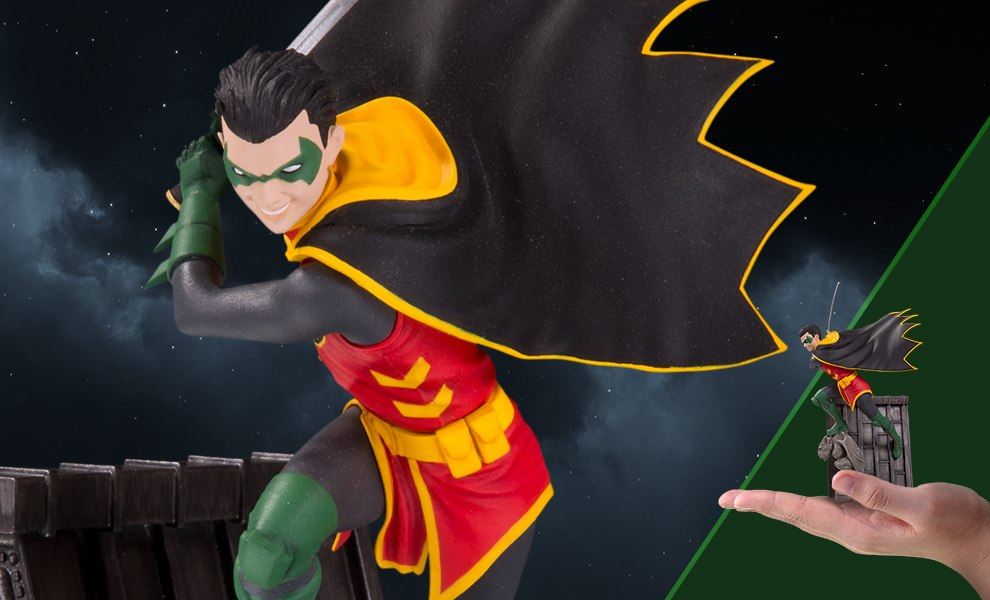 Gallery Feature Image of Robin Bat Family Statue - Click to open image gallery