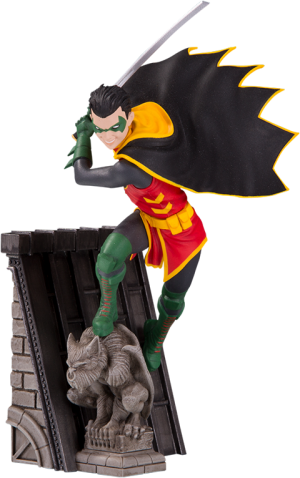 Robin Bat Family Statue