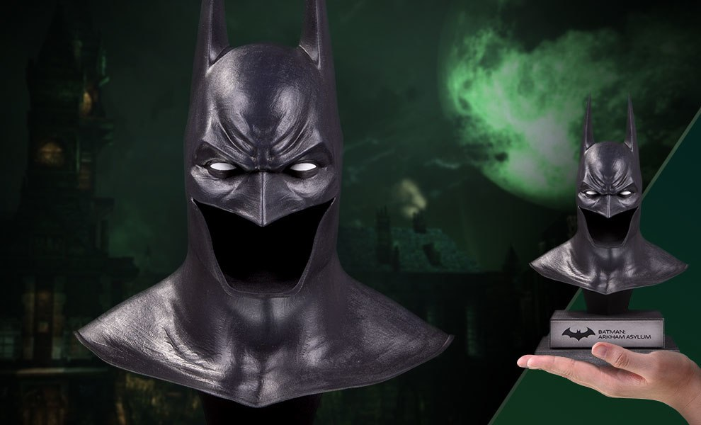 Gallery Feature Image of Arkham Asylum Batman Cowl Statue - Click to open image gallery
