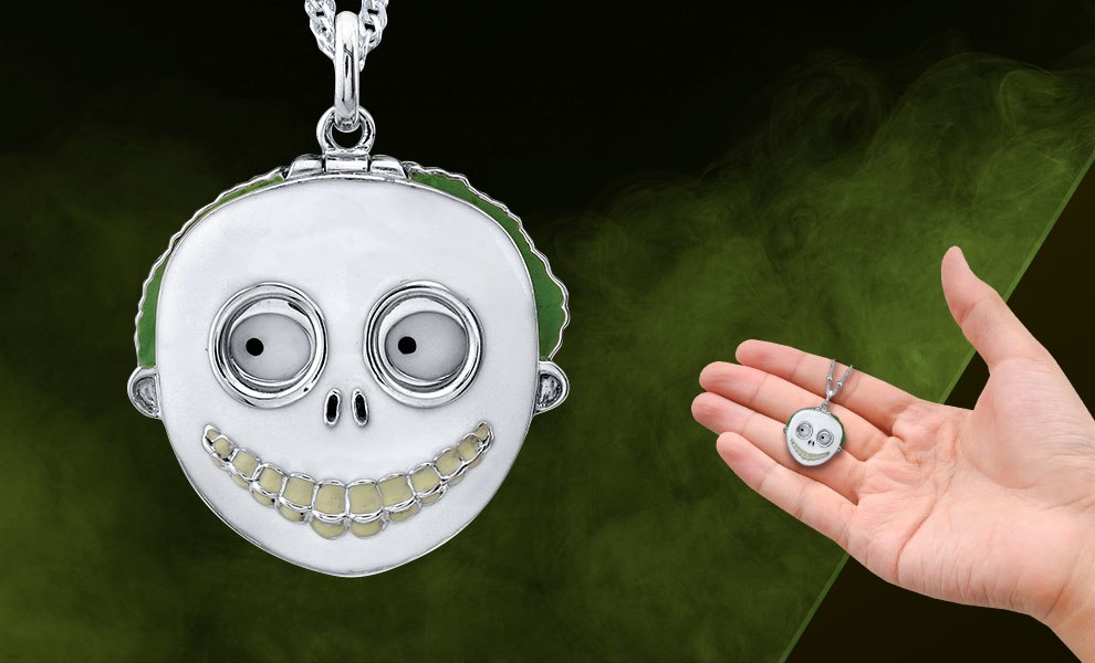 Gallery Feature Image of Barrel Mask Necklace Jewelry - Click to open image gallery