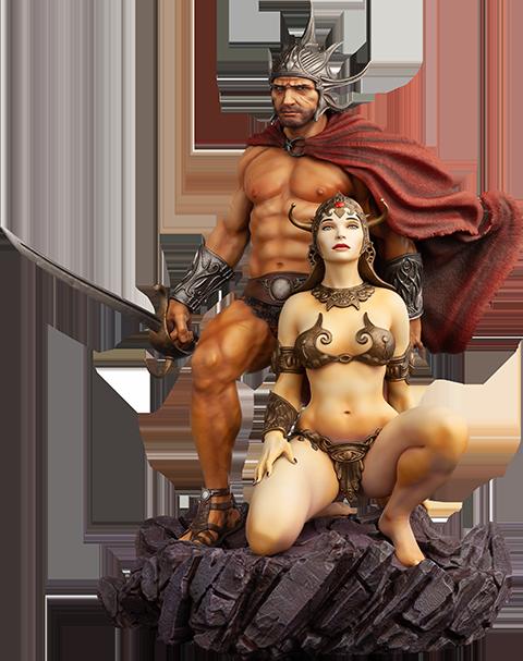 Level52 Studios The Swordsman of Mars Polystone Statue