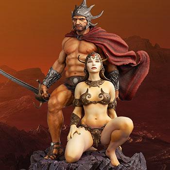 The Swordsman of Mars Polystone Statue