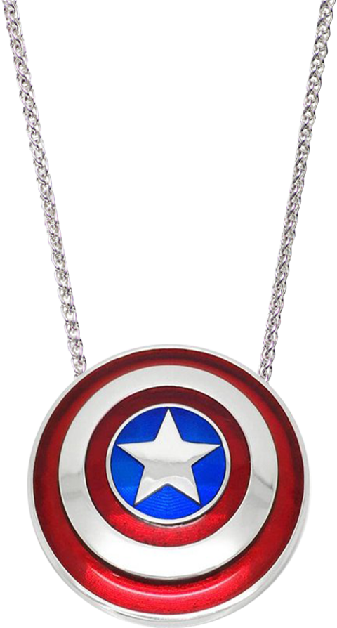 Whats Your Passion Jewelry Captain America Shield Necklace - Small Jewelry