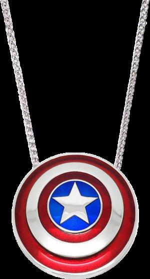 Captain America Shield Necklace - Small Jewelry