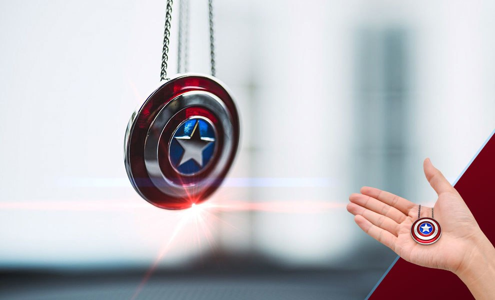 Gallery Feature Image of Captain America Shield Necklace - Large Jewelry - Click to open image gallery