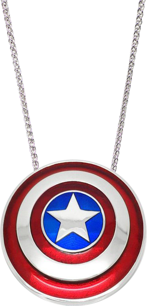 Whats Your Passion Jewelry Captain America Shield Necklace - Large Jewelry