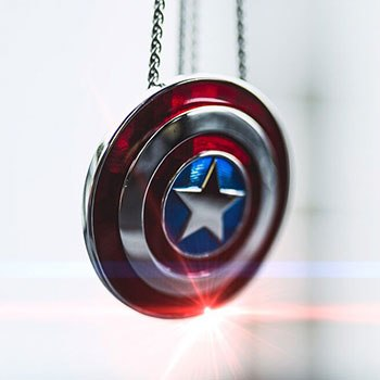 Captain America Shield Necklace - Large Jewelry