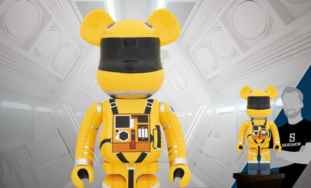 Gallery Feature Image of Bearbrick Space Suit Yellow Version 1000 Figure - Click to open image gallery